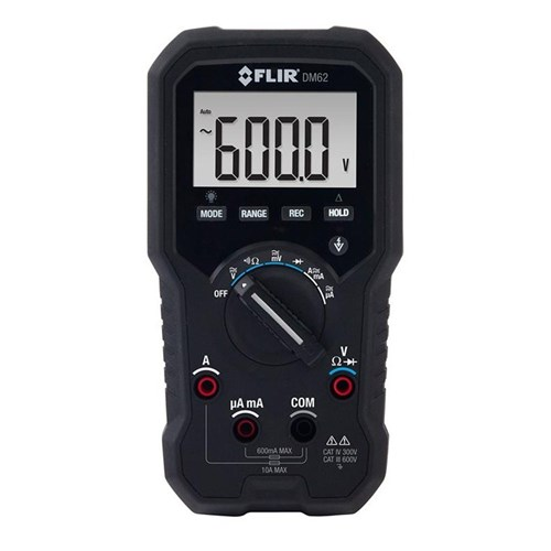 FLIR DM62 TRMS DIGITAL MULTIMETER WITH NON-CONTACT VO LTAGE
